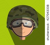 war soldier design  | Shutterstock .eps vector #427043338