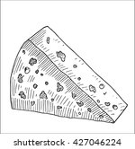 tasty cheese slice vector... | Shutterstock .eps vector #427046224