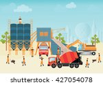 industrial cement processing... | Shutterstock .eps vector #427054078