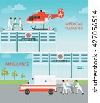 info graphic of medical... | Shutterstock .eps vector #427056514
