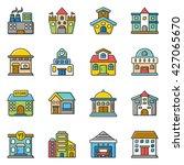 icon set building vector | Shutterstock .eps vector #427065670