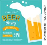 poster or flyer for beer party. ... | Shutterstock .eps vector #427069834