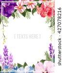 floral invitation    Shutterstock .eps vector #427078216