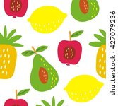 summer fruit pattern | Shutterstock .eps vector #427079236