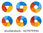 set of six round infographic... | Shutterstock .eps vector #427079554