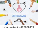 care childcare love baby take... | Shutterstock . vector #427088194