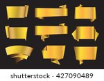 set of golden banners.vector...   Shutterstock .eps vector #427090489