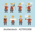 set of king characters posing... | Shutterstock .eps vector #427091008