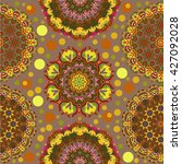 set of ornamental patterns for ... | Shutterstock .eps vector #427092028