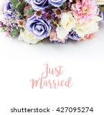 bouquet of dried wild flowers... | Shutterstock . vector #427095274