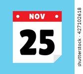 calendar icon flat november 25