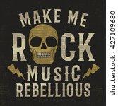 rock music typo design for print | Shutterstock .eps vector #427109680