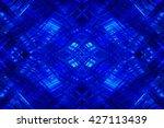 abstract blue fractal... | Shutterstock . vector #427113439