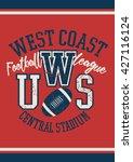 west coast football league...   Shutterstock .eps vector #427116124