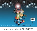 vector business teamwork....   Shutterstock .eps vector #427118698