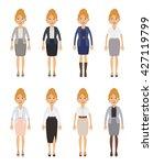 set of businesswoman characters.... | Shutterstock .eps vector #427119799
