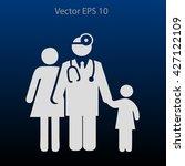 family practice vector... | Shutterstock .eps vector #427122109