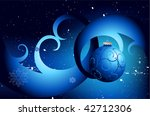 christmas and new year card... | Shutterstock .eps vector #42712306
