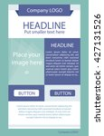 flyer corporate vector layout... | Shutterstock .eps vector #427131526