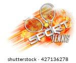 tennis cup symbol | Shutterstock .eps vector #427136278