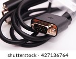 Vga And Dvi Wire Isolated On...
