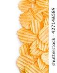 crinkle cut potato chips... | Shutterstock . vector #427146589