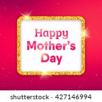 happy mothers day typographic... | Shutterstock . vector #427146994