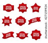 special offer red advertising... | Shutterstock .eps vector #427159924