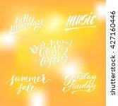 hello sunshine card. hand drawn ... | Shutterstock .eps vector #427160446