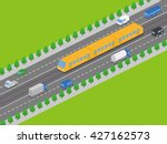 light rail transit system and... | Shutterstock .eps vector #427162573