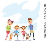 run in parent and child | Shutterstock .eps vector #427164748