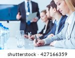 young pretty professional... | Shutterstock . vector #427166359