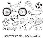 collection of vector sport... | Shutterstock .eps vector #427166389