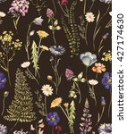 Watercolor Floral Pattern On A...