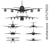 aircraft. front view. set of... | Shutterstock .eps vector #427175023