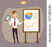 modern business teacher giving... | Shutterstock .eps vector #427180186
