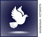 dove sign icon  vector... | Shutterstock .eps vector #427184374