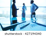 close up of business document... | Shutterstock . vector #427194340