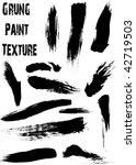 grunge brushes line | Shutterstock .eps vector #42719503