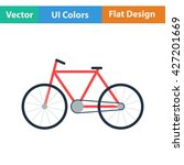 ecological bike icon. flat...