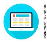 laptop landing page circle icon....