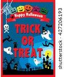 halloween poster   Shutterstock .eps vector #427206193