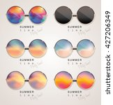 Set Of Colorful Sunglasses Wit...