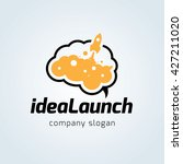 idea launch logo. rocket logo.... | Shutterstock .eps vector #427211020