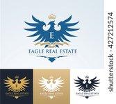 eagle real estate logo. vector... | Shutterstock .eps vector #427212574