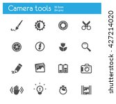 camera tools flat icons set of... | Shutterstock .eps vector #427214020