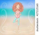 beautiful pregnant woman... | Shutterstock .eps vector #427215160