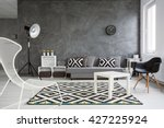 spacious living room decorated... | Shutterstock . vector #427225924