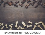 chess figures on the brown...   Shutterstock . vector #427229230