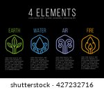 nature 4 elements circle logo... | Shutterstock .eps vector #427232716